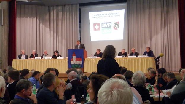 Die Delegiertenversammlung der SVP in Kirchberg.