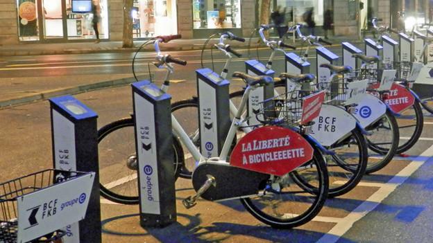 Freiburg hat schon ein Veloverleihsystem mit einem dichten Netz an Ausleihstationen.