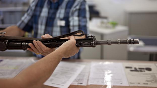 Im Kanton Bern werden vor allem registrierte Waffen oder Erbstücke abgegeben.