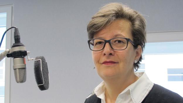 Bild von Regula Mader im SRF-Radiostudio Bern.