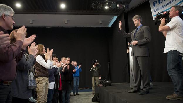 Für Christian Varone gab es viel Applaus von seinen Parteifreunden.