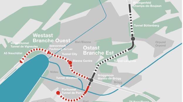 Mit der Umfahrung Biel wird eine der letzten Lücken im schweizerischen Nationalstrassennetz geschlossen.