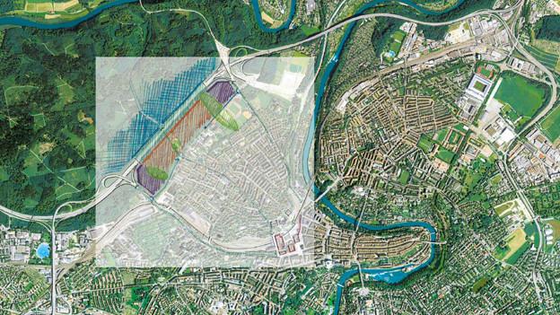 Die Waldstadt im Bremgartenwald soll zwischen Länggasse und Autobahn gebaut werden.
