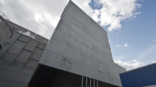 Die neue Energiezentrale beeindruckt durch ihre markante Architektur.