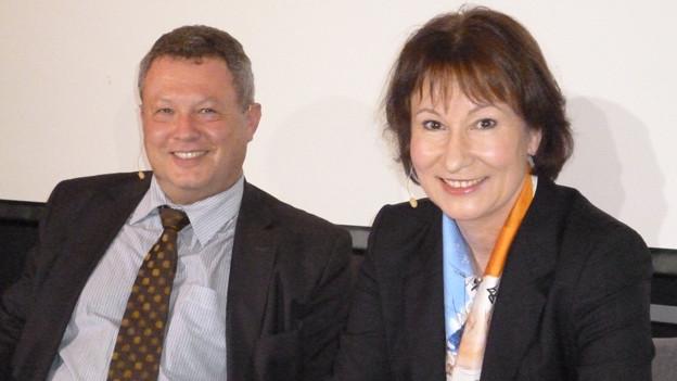 Die BKW-Spitze: Urs Gasche und Suzanne Thoma.
