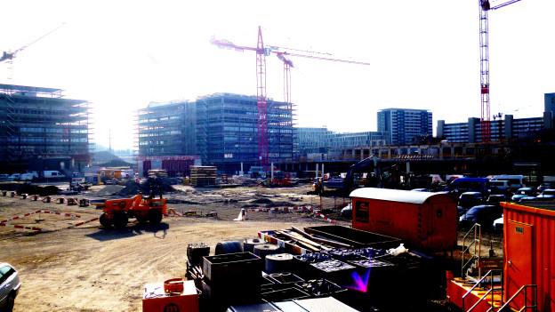 Hier läufts gut für den Wirtschaftsraum Bern: Baustelle Wankdorf-City.