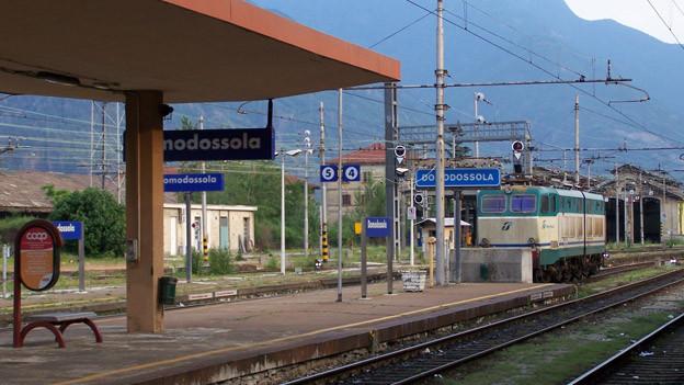 Bahnhof Domodossola.