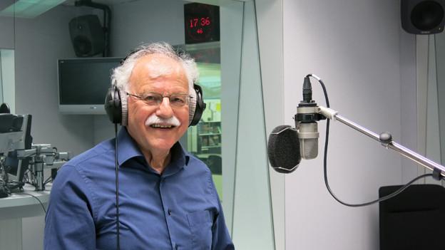 Heinz Däpp zurück im Radiostudio.