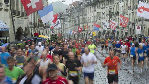 Während des GP laufen jeweils Tausende durch die Berner Innenstadt.