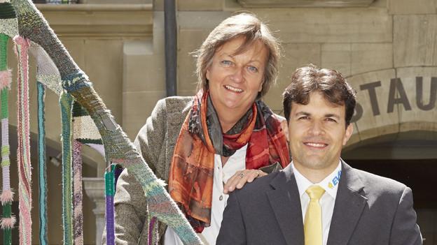 Barbara Mühlheim (GLP) und Marc Jost (EVP) wollen in die Berner Regierung.