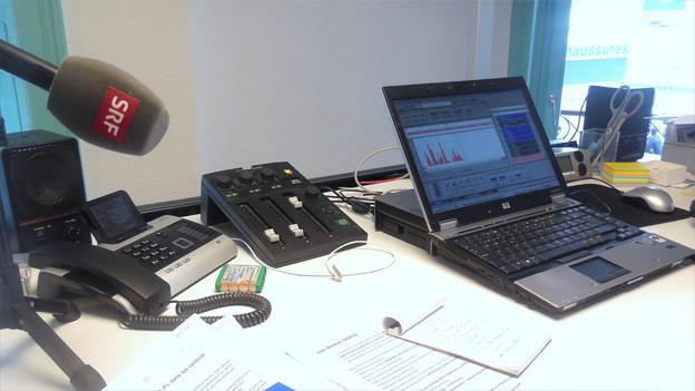 In diesem Radiostudio sendet Radio SRF aus Freiburg.