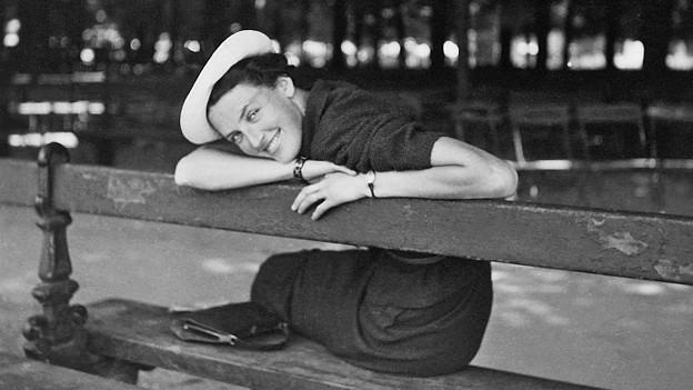 Laure Wyss etwa 24jährig.