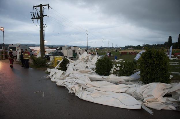 Ein Bild der Verwüstung nach dem Sturm in Biel.