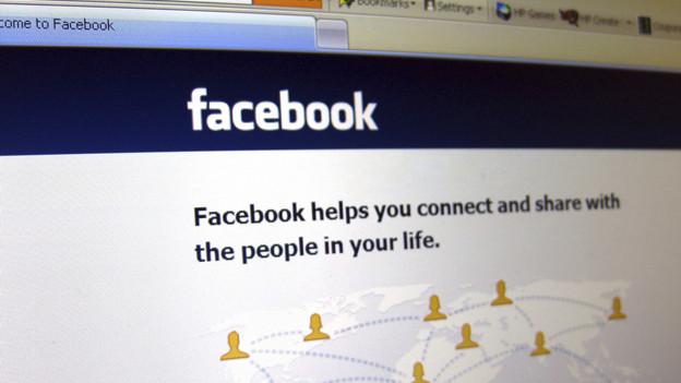 Die Facebook-Einstiegsseite.