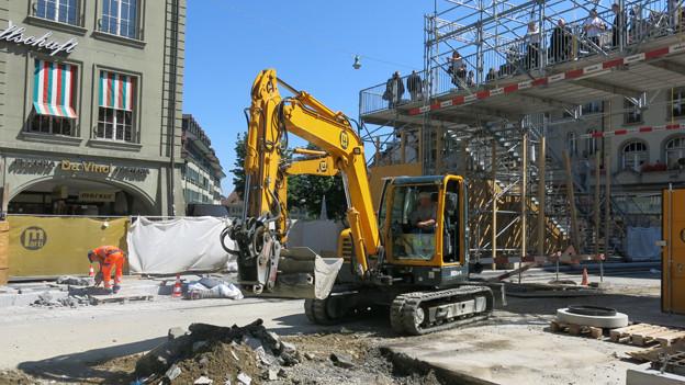 Die Marktgasse bleibt noch bis Mitte September eine Baustelle.