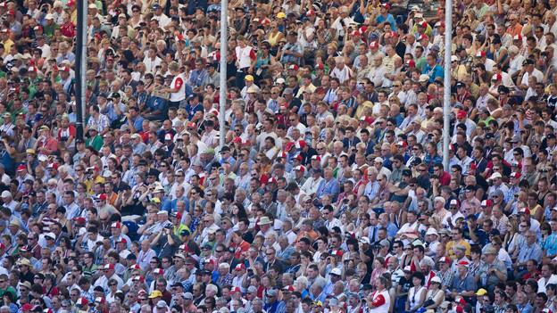 Menschenmenge am Eidgenössischen in Frauenfeld 2010.