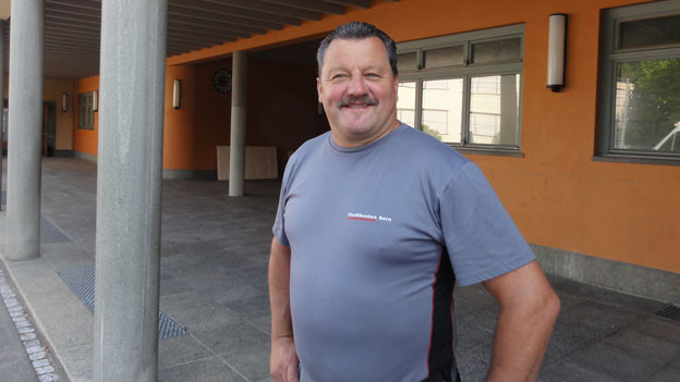 Peter Straub, Hauswart im Schulhaus Stapfenacker.