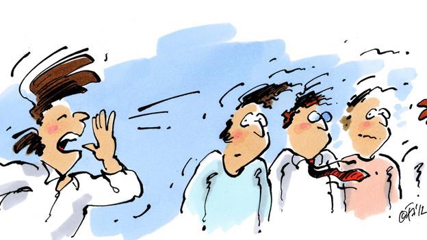 Illustration «Ruf in die Woche».