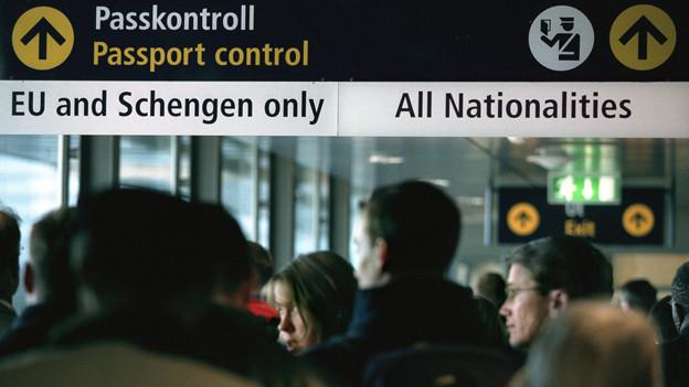 Schengen-Passkontrolle.