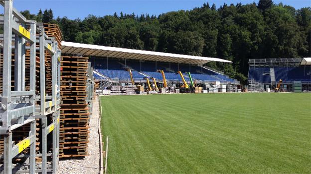 In Burgdorf entsteht derzeit das grösste Stadion der Schweiz.