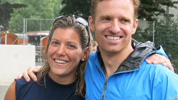 Die Sieger: Daniela Stadler und Cornelius Waidelich.