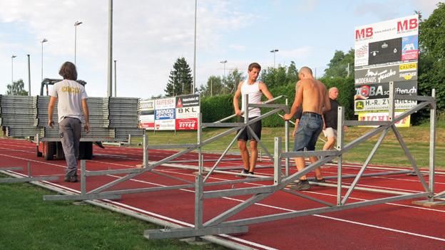 Die Mitglieder des FC Murten arbeiten auf ihr grosses Spiel hin.