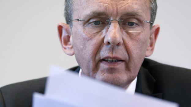 Im Fokus der Regierungswahlen im Kanton Bern: Philippe Perrenoud aus dem Berner Jura.