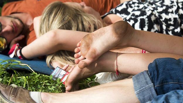 Die Besucher beim Open Air Gampel konnten ruhig schlafen.