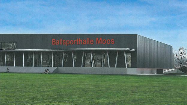So soll die Sporthalle dereinst aussehen.