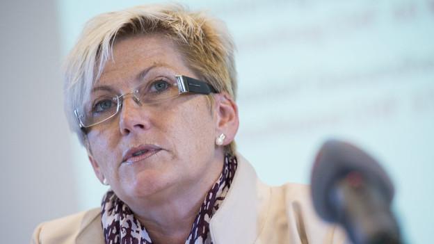 Finanzdirektorin Beatrice Simon präsentierte am Donnerstag ein ausgeglichenes Budget.