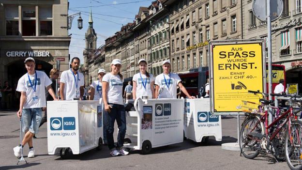 Die Equipe der Stadt Bern im Einsatz