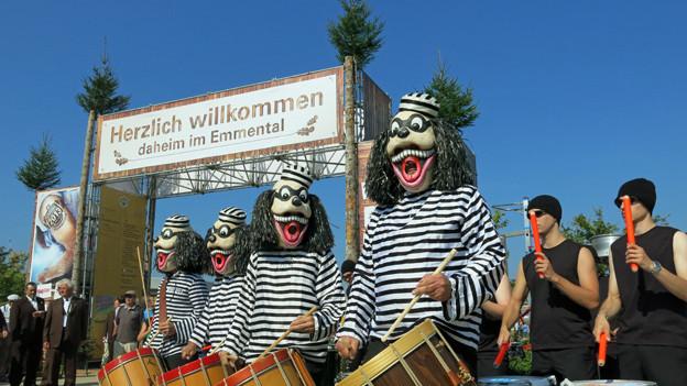Guggenmusik bei der Eröffnung des Schwing- und Älplerfests in Burgdorf.