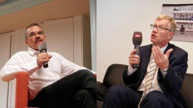 Hoffen auf das Amt im Staatsrat: Jean-François Steiert und Jean-Pierre Siggen