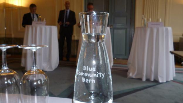 Predige Wasser und trinke es auch - Trinkwasser-Label für die Stadt Bern.