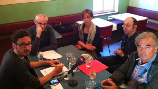 Gesprächsrunde im Quartierrestaurant zum Zustand des Lorraine-Quartier