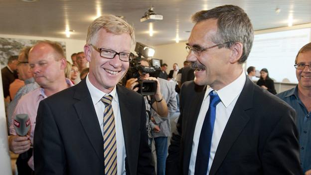 Jean-Pierre Siggen und Jean-François Steiert müssen in einen zweiten Wahlgang.