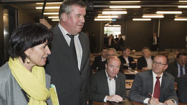 Da war die Welt für Michel Rothen noch in Ordnung: Mai 2012 mit Bundesrätin Doris Leuthard.