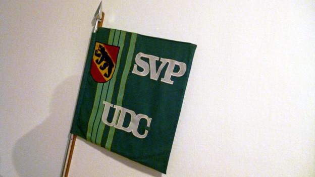 Symbolisches aus dem Treppenhaus der bernischen SVP: Eine halbe Speerspitze fürs Pensionskassen-Referendum.
