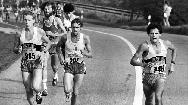 Markus Ryffel unterwegs am Murtenaluf 1983.