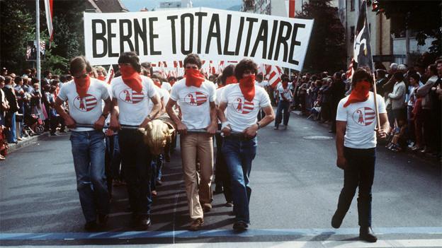 Mitglieder der jurassischen Separatistengruppe «Beliers» 1980.