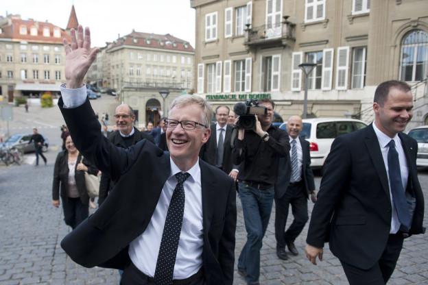 Der strahlende Sieger: CVP-Staatsrat Jean-Pierre Siggen