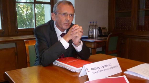 Regierungsrat Philippe Perrenoud verfehlt seine Ziele.