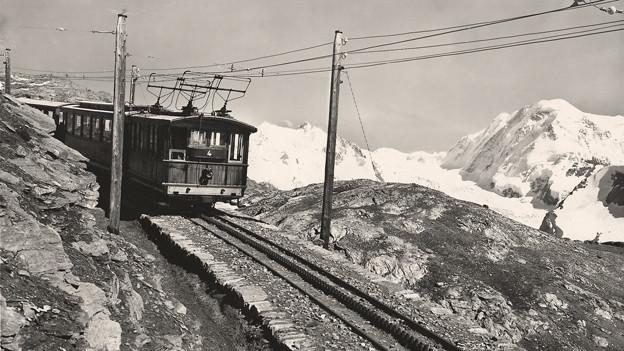 Die Gornergratbahn, 1898 die erste Hochgebirgsbahn Europas.