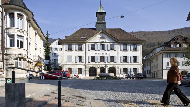 Im Rathaus des Berner Städtchens Moutier sind die Separatisten in der Mehrheit.