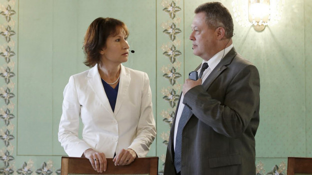 Schalten Mühleberg ab: Suzanne Thoma und Urs Gasche.