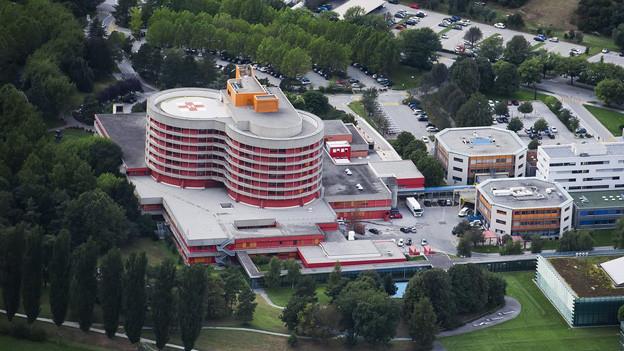 Das Spital Wallis in Sitten.