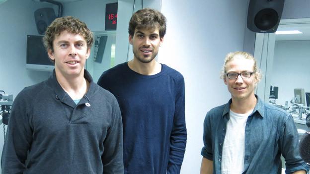 Steps-Filmer im Studio: Sten Smola (l), Stephan Hermann und Philippe Eyer.