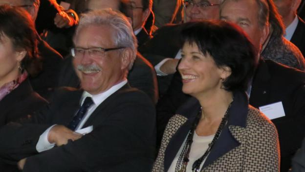 Doris Leuthard und Beat Vonlanthen.