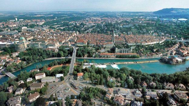 Die Stadt Bern, Zentrum der Region Bern-Mittelland.