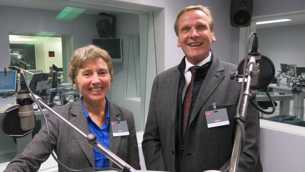 Rita Haudenschild (Grüne) und Ueli Studer (SVP).